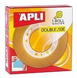 APLI 11505 - Cinta adhesiva celo doble cara 15 mm x 10 m