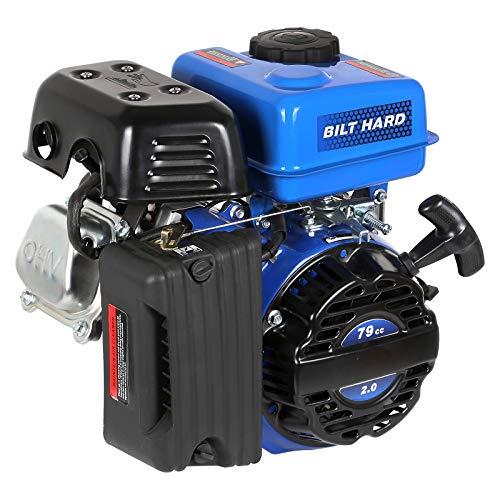 BILT HARD Gas Engine 3HP 79cc, Gas Motor for Go Kart, Mini Bike, Lawn Mower, Log Splitter, EPA & CARB Certified, 4 Stroke OHV Horizontal Shaft with Fuel Shut Off and Recoil Start