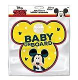 Disney 9612 Lavagna con Gancio a Ventosa Baby on Board Topolino, Giallo