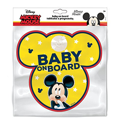 Disney 9612 Tafel mit Saugnapfhaken Baby on Board Mickey