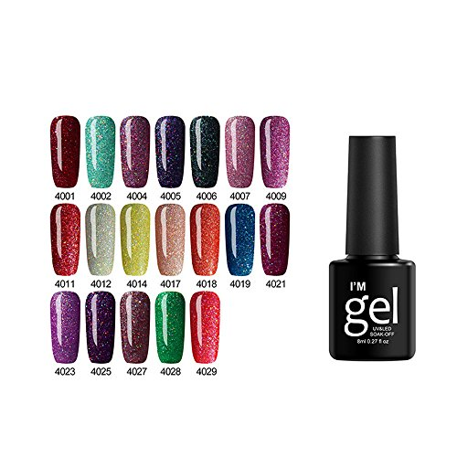 8ml Non-Toxic Nail Polish - Easy Peel Off & Quick Dry, Organic Water Based Nail Polish No Wipe Top and Base Coat for Women,Teens,Kids(19 Colors) (S)