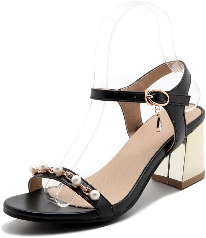 Women's Pearl High Heel Sandals Open Toe Glitter-Wedding, Party, Pump Dress Sandals gold Silver Black