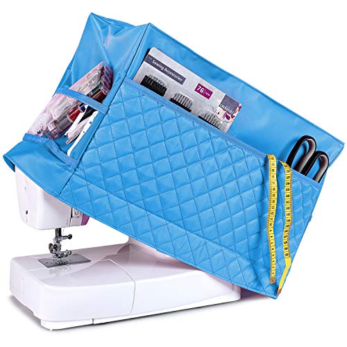 Find Bargain Addicted DEPO Sewing Machine Cover with 3 Convenient Pockets - Protective Quilted Dust ...