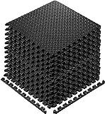 Walsai Exercise Mats Puzzle Foam Mats Gym Flooring Mat Cover 20 SQ.FT Interlocking Foam Mats with...