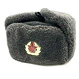 BELEON Soviet Hat Army Ushanka - Authentic Russian Communist Hat - WW2 Soviet Surplus Grey