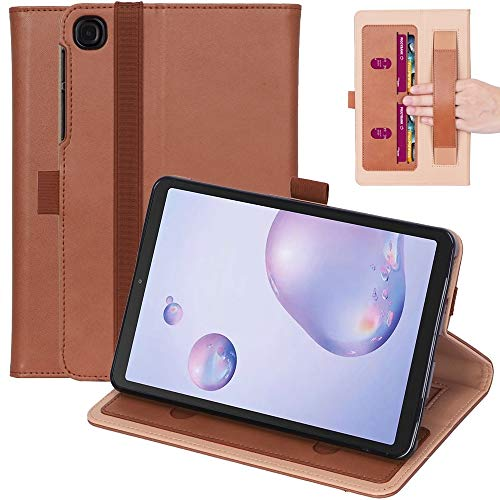 Zhouzl Galaxy tablet case For Samsung Galaxy Tab A7.0 T500 (2020) Retro Texture PU + TPU Horizontal Flip Leather Case with Holder & Card Slots & Hand Strap Galaxy tablet case (Color : Brown)