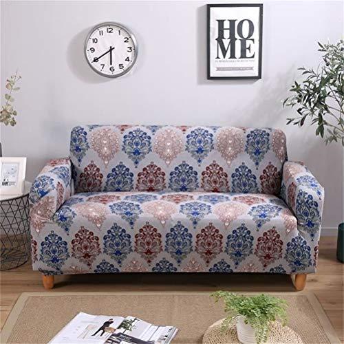 KENANLAN Geometrische Stretch Sofa Cover Couch Schonbezug, maschinenwaschbar, stilvolle Möbel Protector gedruckt Abdeckungen