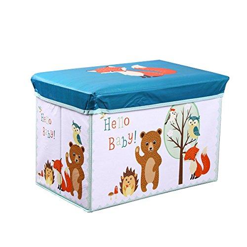 S-Lifeeling Aufbewahrungsbox Multifunktions Wasserdicht Faltbar Tragbarer Stuhl Dresser Schublade Schrank Organizer Container Mit staubdichten Deckel Fuchs