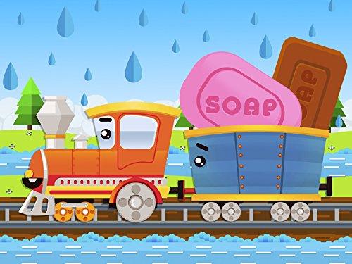 The Train and the Truck make soap bubbles