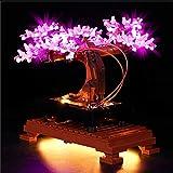 zhly kit di luci led per lego 10281 creator expert albero bonsai, set di luci illuminazione per lego 10281 (modello lego non incluso) (b version)