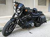 Bisaccia Borsa In vera Pelle 100% Sgancio Rapido Moto Montaggio Laterale Incavo Ammortizzatore Sinistro Harley Davidson Sportster XL 883 1200 Non Richiede Supporto Fissaggio con Cinghie Incluse