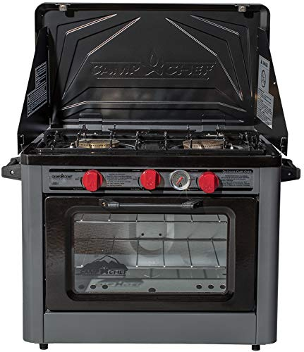 Camp Chef Deluxe Outdoor Camp Oven - Stainless Steel, Insulated Oven Box, Matchless Ignition - Charcoal Gray (COVEND) 3