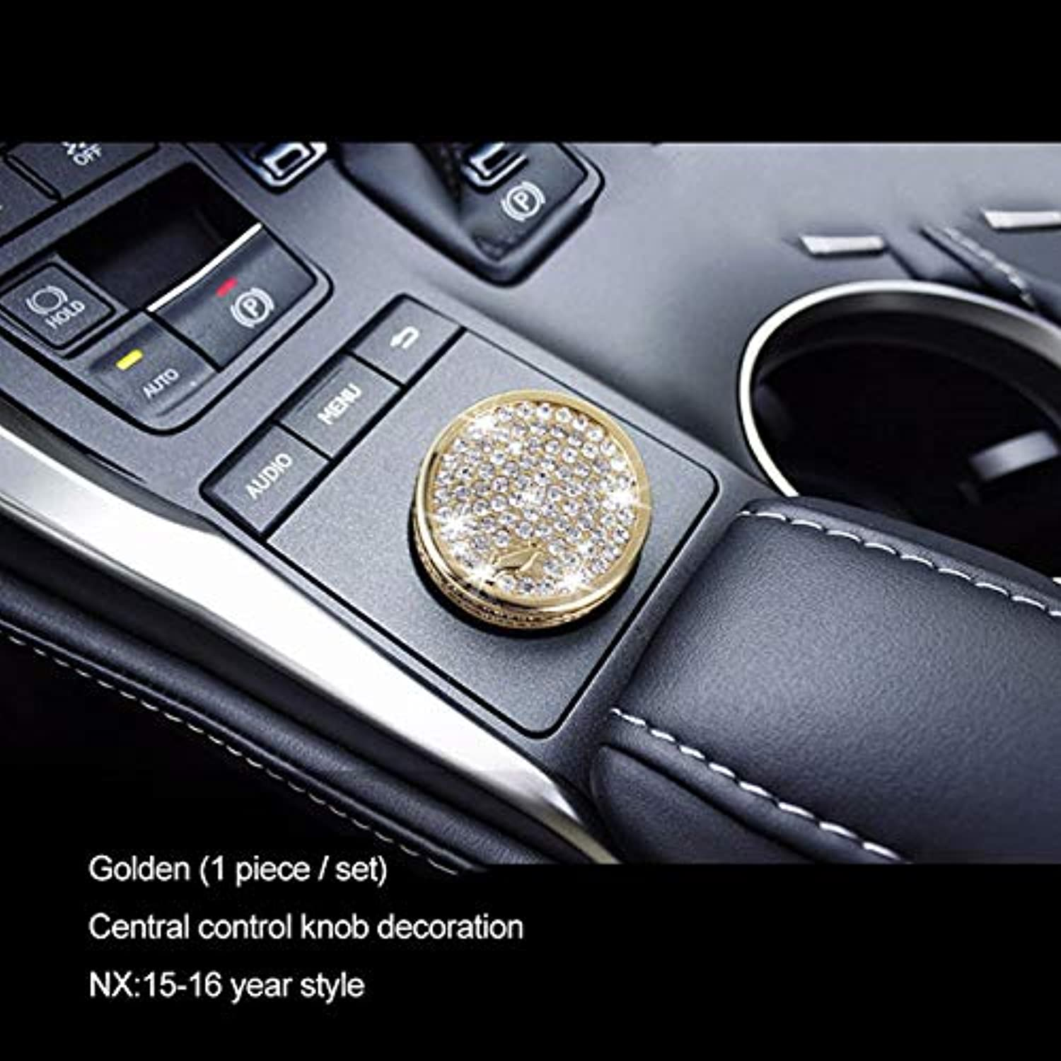 Decorative Time Clock Cover Zinc Alloy Rhinestone Shift Dashboard Air Outlet Frame for Lexus NX200 200T 300H 20142016  (color Name  Center Control G)