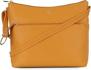 Baggit Autumn-Winter 2020 Faux Leather Women's Hobo Handbag (Yellow) (Lxe Tokoyo)