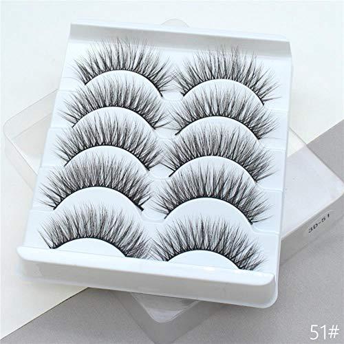 KADIS 5Pairs 3D False Eyelashes Extension Natural Thick Long Fake Eye Lashes Wispy Women Makeup Beauty Tools,51