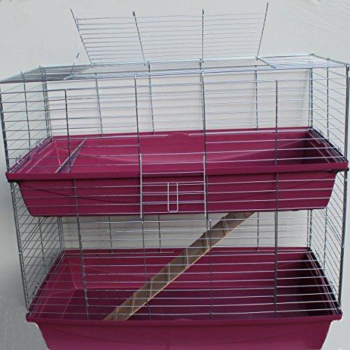 Heimtiercenter XXL 1m doppel Hasenkäfig Meerschweinchenkäfig rot