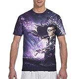 Skrillex Mens T Shirt Fashion 3D Print T Shirts Crew Neck Short Sleeve Tops Black