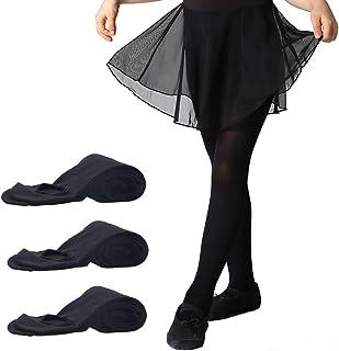 Mànzi 3 Paar Frauen Mädchen Basic Cabrio Ballett Tanz Strumpfhosen mit variablem Fuß,Kinder,Erwachsene 40 den