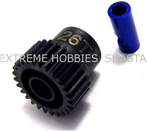 Hot Racing NSG826 26t Steel 48p Pinion Gear 5mm or 1 8 by Hot Racing