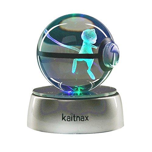 Kaitnax Kristallkugellampe mit 3-D-Lasergravur, 50mm, mit LED-Sockel