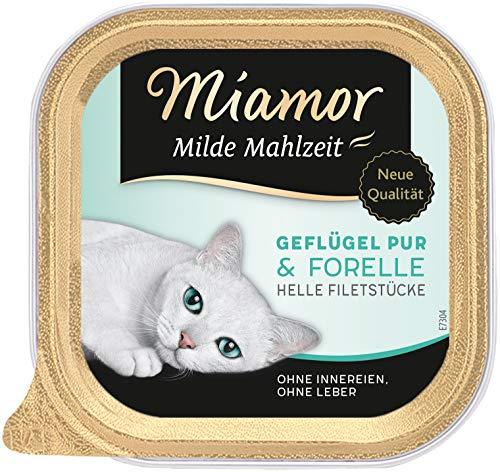 Miamor Milde Mahlzeit Geflügel & Forelle, 16er Pack (16 x 100 g)