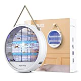 P O W B U Z Z Bug Zapper Fruit Fly Trap Gnat Killer Mosquito Zapper Moth Catcher with Light...