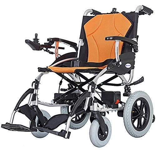 HAOT Elektrisch angetriebener Rollstuhl zusammenklappbar Leichtgewicht 18 kg, Sitzbreite 46 cm, Abnehmbarer Mobilitätsstuhl für Lithiumbatterien, motorisierte Rollstühle fdg