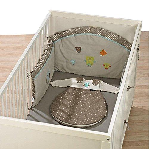 Alvi Nestchen mit Bogen für Kinderbett, Design:Birds beige