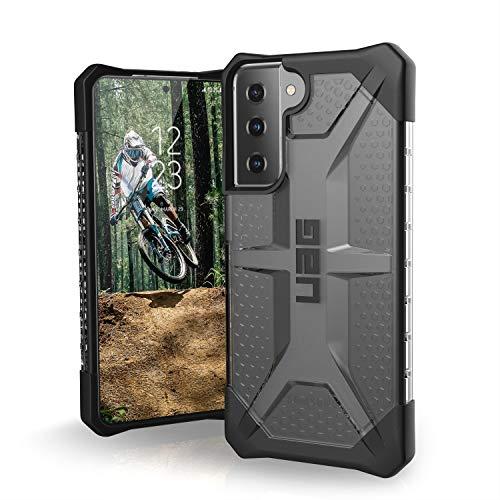 Urban Armor Gear Plasma Schutzhülle Samsung Galaxy S21 5G (6,2' Zoll) Hülle (Wireless Charging kompatibles Cover, Sturzfeste Handyhülle, Ultra Slim Bumper) - ash (grau transparent)