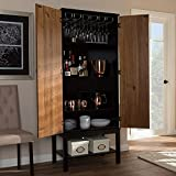 Baxton Studio Mid-Century Two-Tone Wine Cabinet by