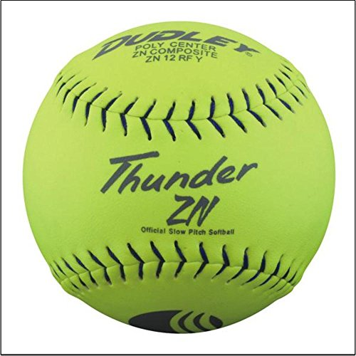 Dudley USSSA Thunder ZN Slow Pitch Softball - .47 COR - Stadium Stamp - 12 pack
