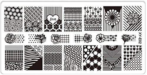 'Pochoir de stamping # E02 Pattern \