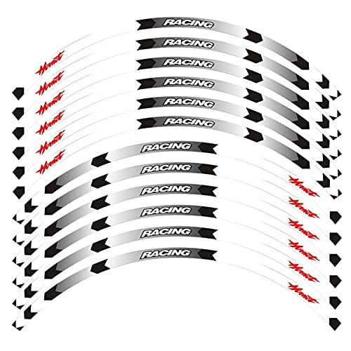 12 Uds Motocicleta Pegatina Impermeable Ruedas Llantas Pegatinas De Cubo Calcomanías Reflectantes Delanteras Y Traseras Para H-onda Para Hornet 250900400 Pegatinas de calcomanías de piezas de moto