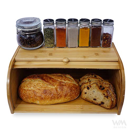 Wooden Bread Box Kitchen Counter Food Storage Container