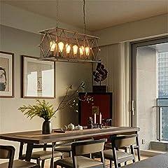 ZHENYUE Chandeliers ® Vintage Industrial Pendant Ceiling Light Steampunk Retro LOFT Creative Metal Iron Cage Chandelier 6 Lights Living Room Bedroom Bar Restaurant Decoration Lighting Chandelier ZHENY #3