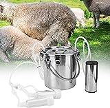SKYWPOJU Kit de ordeño de Vacas de Acero Inoxidable 5L Eléctrico para Bovinos y Ovinos, Voltaje 100-240V (Color : For Goat)