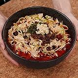 DJY-JY Cerámica grande sopa profunda Ramen Bowl fideos ensalada de frutas tazón creativo mezcla servir cocina cuencos horno microondas seguro negro 1.4L