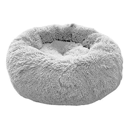 E-dogbed stierbett Hundebett Kuschelkissen Katzensofa Hundehöhle Katzenbett für kleine, mittelgroße Haustiere Donut-Form Katzenliege Katzenkissen Welpenbett