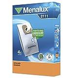 Menalux 2111 Lot de 4 sacs d'aspirateurs pour Duraflow/Moulinex/Rowenta