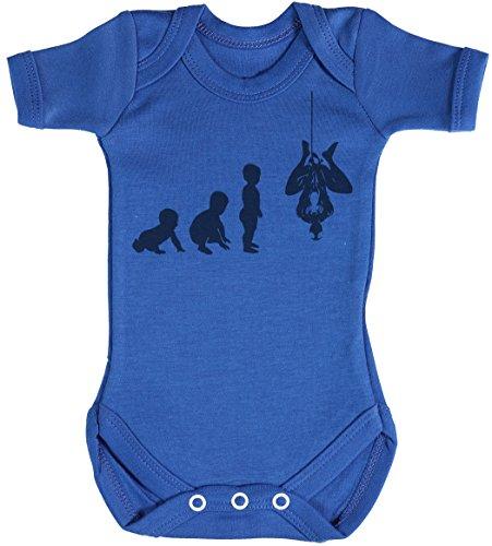 Baby Evolution to A Spider Man Body bébé - Gilet bébé - Body bébé Ensemble-Cadeau - Naissance Bleu