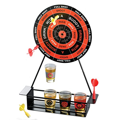 Crystal Clear Shot Glass Darts Bar Game Set, 2x2x2