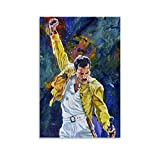 ASDQA Freddie Mercury - Póster de lienzo y pared (30 x 45 cm)