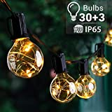 Quntis 39FT Outdoor String Lights, G40 Globe LED String Lights with 30+3 Bulbs