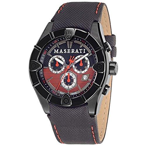 MASERATI Reloj Analógico para Hombre de Cuarzo con Correa en Piel R8871611002