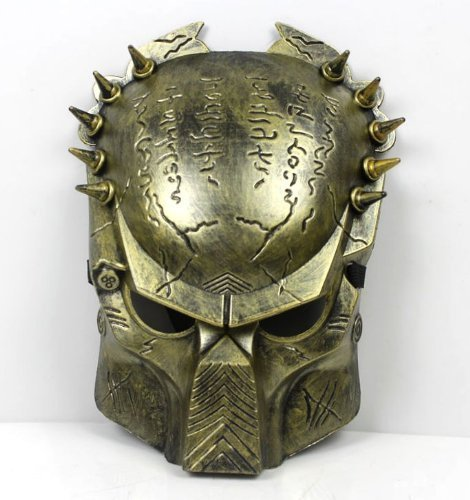 『Predator Aliens vs Predator mask disguise face mask [gold] 12mm width belt with gold (japan import) by eDream by eDream [並行輸入品]』のトップ画像