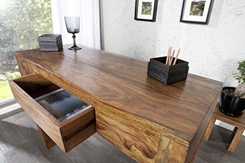 DuNord Design Sekretär Schreibtisch Konsole Jakarta 100cm Sheesham Massivholz Echtholz
