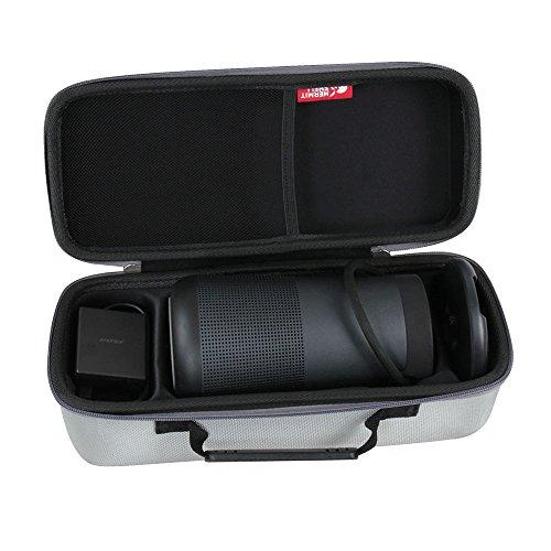 Hermitshell Hard EVA Travel Lux Gray Case Fits Bose SoundLink Revolve+ Bluetooth Speaker with Charging Cradle