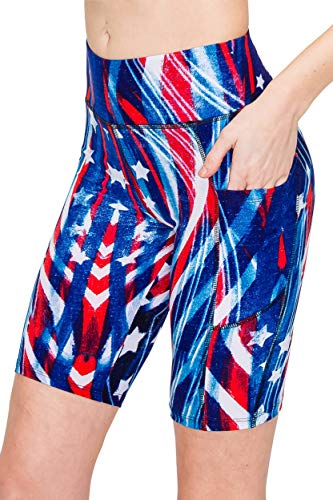 ALWAYS Women's USA Yoga Shorts with…