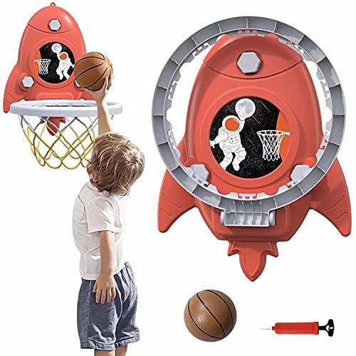 TTHH Canasta Baloncesto Infantil, Tablero Baloncesto Juego Al Aire Libre y Interior Oficina Juegos de Jardin Mini Aro de Baloncesto para Niños(con Pelota Blanda y Inflador)