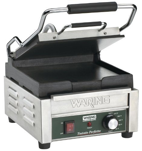 Waring Commercial WFG150 Compact Italian-Style Flat Grill, 120-volt